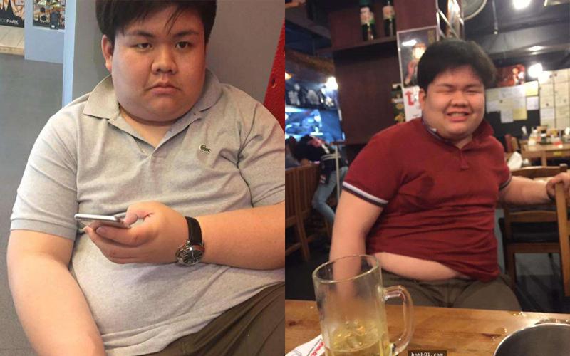 155公斤肥宅跟女生表白卻被說「身上有胖胖的味道」,他花1年時間甩掉75公斤…現在女生都倒追他